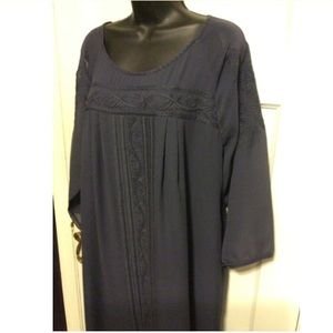 Joie Dresses - Joie Navy Blue Silk Tunic Dress